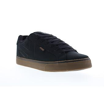 Etnies Fader Vulc Mens Black Canvas Lace Up Skate Sneakers Shoes