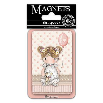 Stamperia Baby Girl Balloon 8x5.5cm Magnet