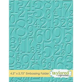 Taylored Expressions Take A Number Embossing Folder
