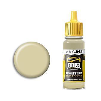 Ammo by Mig Acrylic Paint - A.MIG-0012 RAL 7028 Dunkelgelb Aus 44 Dg III (17ml)