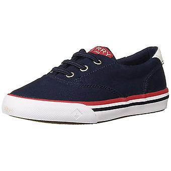 Kids Sperry Boys Striper Fabric Low Top Lace Up Walking Shoes
