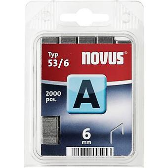 Type 53 fijne draad nietjes 2000 PC('s) Novus 042-0355 Clip Typ 53/6 afmetingen (L x W) 6 x 11.3 mm
