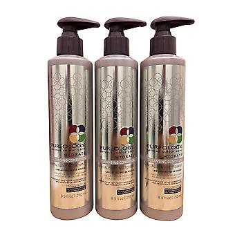 Pureology חלקה שלמות ניקוי מרכך צבע יבש מטופלים שיער 8.5 OZ סט של 3