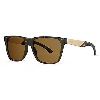 Sonnenbrille Unisex Lowdown Steel XL  polarisiert matt braun/gold