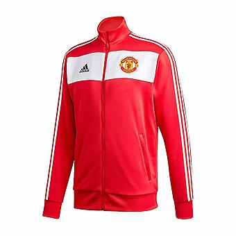 2020-2021 Man Utd Adidas 3S Track Top (Red)