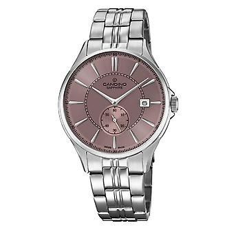 Candino C4633-3 Men's Pink/Grey Dial Wristwatch With Date