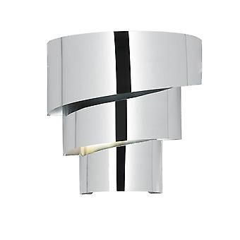 1 ljus inomhus vägg ljus krom, E14