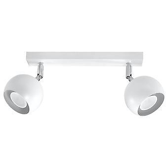 Sollux OCULARE - 2 Light Spotlight Bar Hvid, GU10