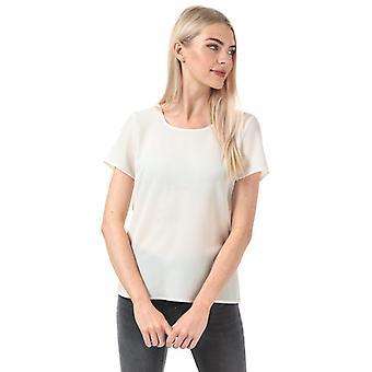 Frauen's Vero Moda Sasha Zip Top in Weiß