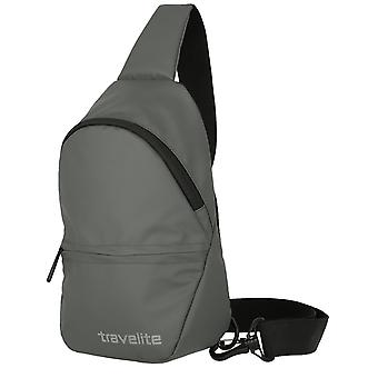 travelite Grunderna liten crossover ryggsäck presenning 29 cm, grå