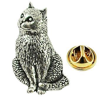 Ties Planet Cat Inglese Pewter Lapel Pin Badge