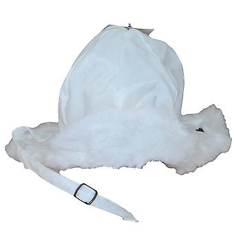 Thick children's hat with fur 50 cm White