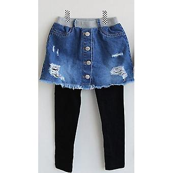 Kids Broken Hole Pants- Cave Jeans, Spring Autumn Fashion Denim Skirt-pants
