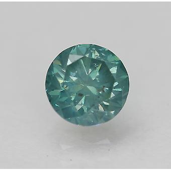Cert 0.54 Ct Vert Bleu SI2 Ronde Brillant Amélioré Diamant Naturel 5.03mm 3VG