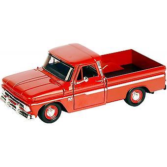 MotorMax American Classics - 1966 Chevy C10 Fleetside Pickup Red  1:24