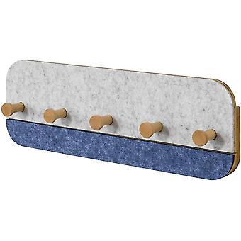 SoBuy FHK16-B, Wall Coat Rack Shelf with 5 Hooks