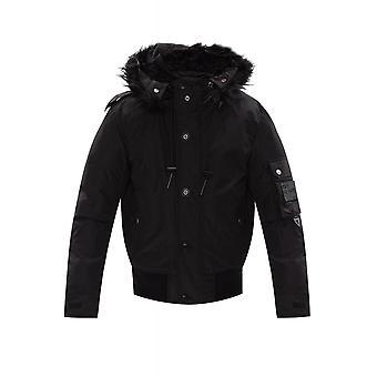 Diesel W-jame Bomber Fur Black Jacket