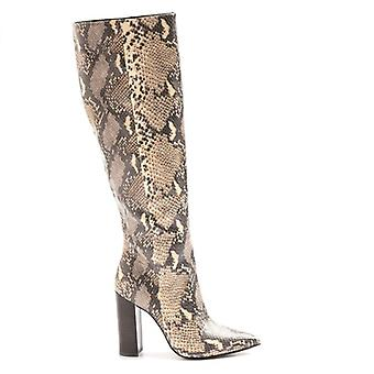 Buffalo Ferna High Heeled Boots In Python Print
