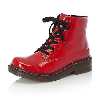 Rieker 76240-33  Flame Ii Ankle Boots In Red Patent