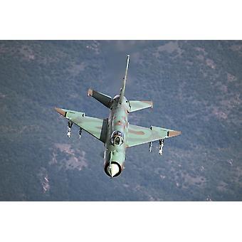 Bulgarian ilmavoimien MiG-21bis aseistettu MolniyaVympel R-60 infrapuna ilmasta-ilmaan ohjusten Juliste Tulosta