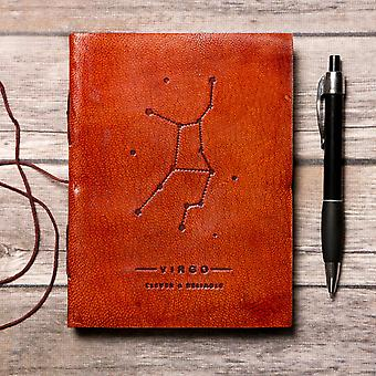 Virgo Astrological - Handmade Leather Journal