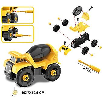 Montessori Diy Blocks, Screw Nut, Assembly Cement Truck, Excavating Vehicle