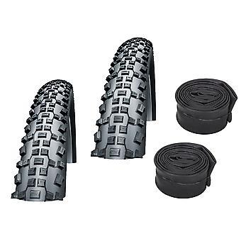 "Velo.Set 2 x Impac Ridgepac Bicycle Tires = 50-406 (20×2.00"") + Hoses"