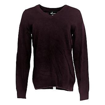 Soft by NAADAM Women's Sweater 100% Cashmere V-Neck Purple A370915