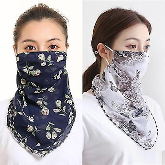 Women Mascarillas Sun Protection Scarves Neck Cover, Mouth Scarf Ring Bandana