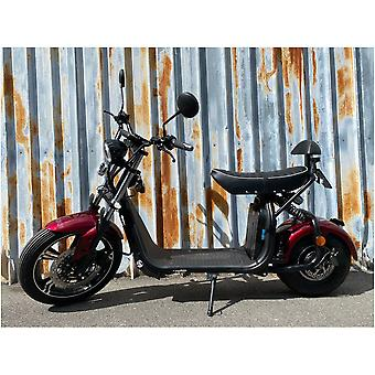"Fatboy City Coco Smart E Electric Scooter Harley - 17 ""- 1500W - 20Ah - B Class - Red"