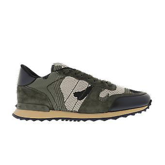 Valentino Camouflage Knit Mesh Runner Green TY2s0723qrk31R shoe