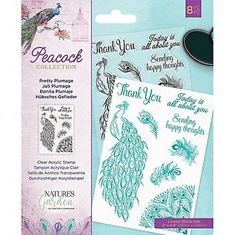 Crafter's Companion Pretty Fjäderdräkt tydliga frimärken
