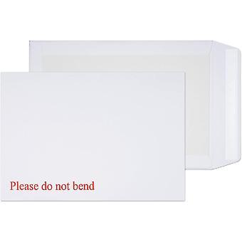 Blake Purely Packaging C4 (A4) 324 x 229 mm Board Back Pocket Peel & Seal Envelopes - Pack of 125