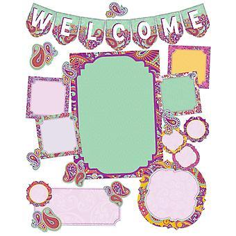 Conjunto de Tableros de Boletín de Bienvenida de Paisley