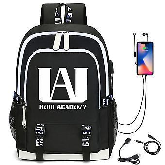 Mein Held academia Rucksack USB Aufladen Schultasche