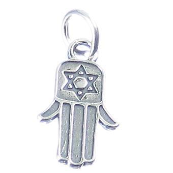 Hamsa Hand Sterling Silber Charm .925 X 1 Khamsa Hand Von Fatima Mary - 4038
