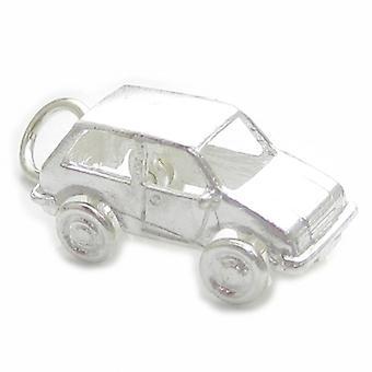 Mini bil Sterling Silver Charm .925 X 1 Bilar Minibilar Charms - 4467