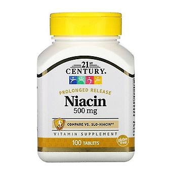 21st Century, Niacin, Prolonged Release, 500 mg, 100 Tablets