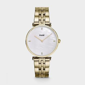 Cluse Ladies Triophe Gold Circle Quartz Fashion Watch CW0101208014