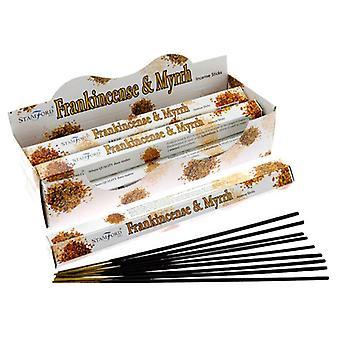 Stamford hex incense sticks - frankincense and myrrh 6 supplied