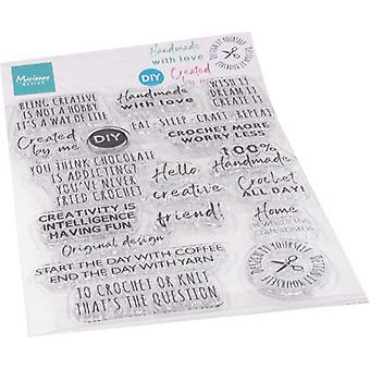 Marianne Design Clear Stamps Crafting Sentiments (Eng) Cs1072 115x185mm