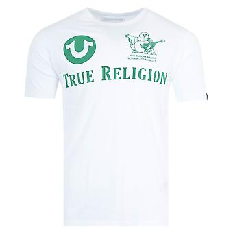 True Religion All Over Logo T-Shirt - White