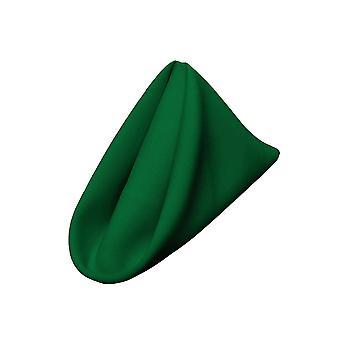 La Leinen Pack-10 Polyester Poplin Serviette 18 von 18-Zoll, Smaragdgrün