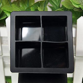 Food Grade Silicone Ice Cube Make (zwart)