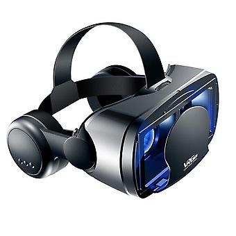 Virtuális valóság 3d vr headset okosszemüveg sisak okostelefonok mobiltelefon mobil 7 hüvelyk objektívek távcső vezérlőkkel