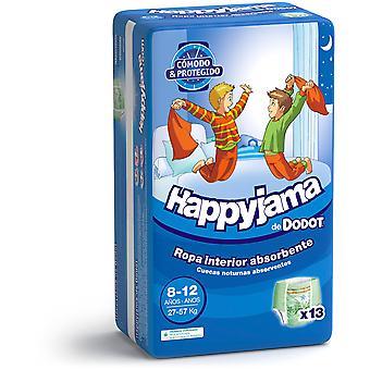 Dodot Happyjama Taille 8-12 Enfant 13 Unités