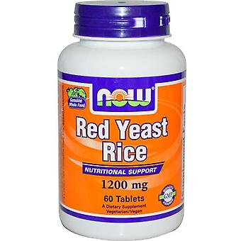Now Foods Red Yeast Rice 1200 mg 60 Tabletas