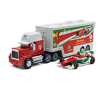 Cars Cargo Truck Trailer F1 Racing Car Diecast Alloy Cars Model Toy Children's Gift