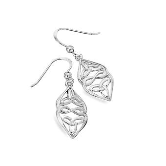 Boucles d'oreilles Sterling Silver - Celtic Trinity Hearts