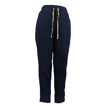 Koolaburra By UGG Women's Pants Sueded Jersey Back Jogger Blue A386509